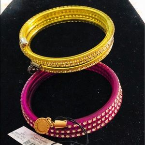 NEW MARC by MARC JACOBS Plum & Yellow Bracelets